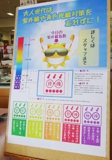 店内紫外線指数ポスター.JPG